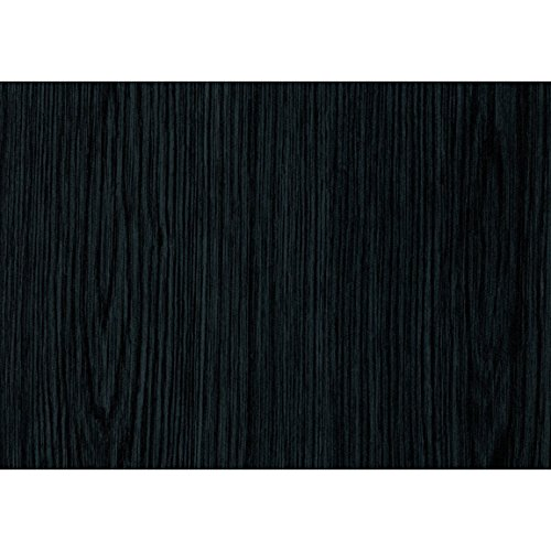 DC Fix Black Wood 3460034 Self Adhesive Film (2 Rolls (17.71 x 78))