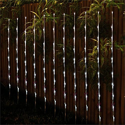 BalsaCircle 4 Solar Powered 34-Inch Garden Branches with 28 White LED Lights for Home Wedding Party Decorations
