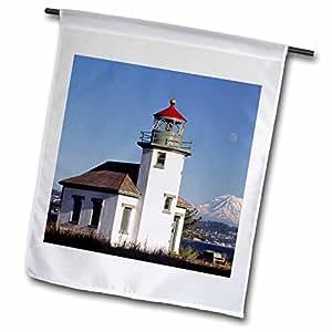 Danita Delimont - Lighthouses - Washington, Vashon Island. Pt Robinson lighthouse - US48 CCR0133 - Charles Crust - 12 x 18 inch Garden Flag (fl_95205_1)