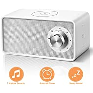 Sound Machine - White Noise Machine with Wireless Charger, 7 Non-Looping Soothing Sounds, Bluetooth White Noise Sound Machine for Sleeping, Office Privacy, Sleep Therapy for Baby & Adults