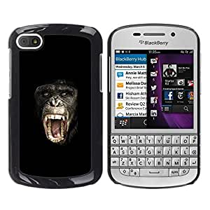 FlareStar Colour Printing Ape Monkey Chimpanzee Planet Of The cáscara Funda Case Caso de plástico para BlackBerry Q10
