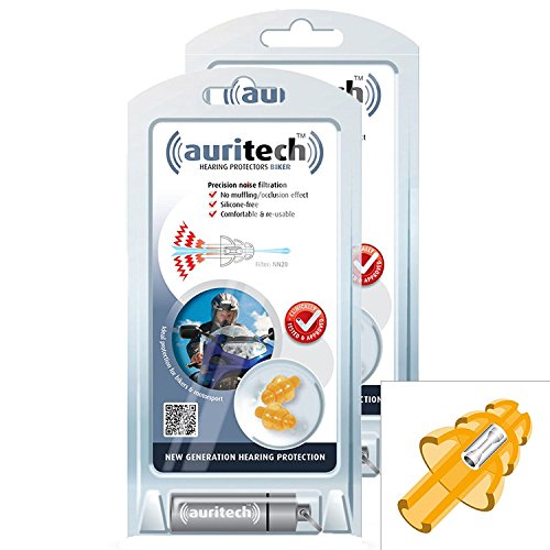 AURITECH BIKER Earplugs New Generation Hearing Protection For Motorcyclists /…