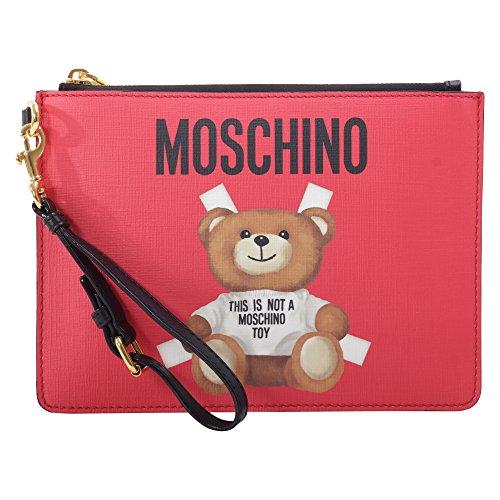 Moschino Pochette Donna A843182101115 Pelle Rosso