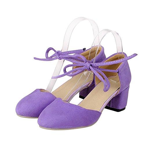 Medio Puro Voguezone009 Chiusa Donna Luccichio Viola flats Punta Ballet Tacco xwwqTFaSX