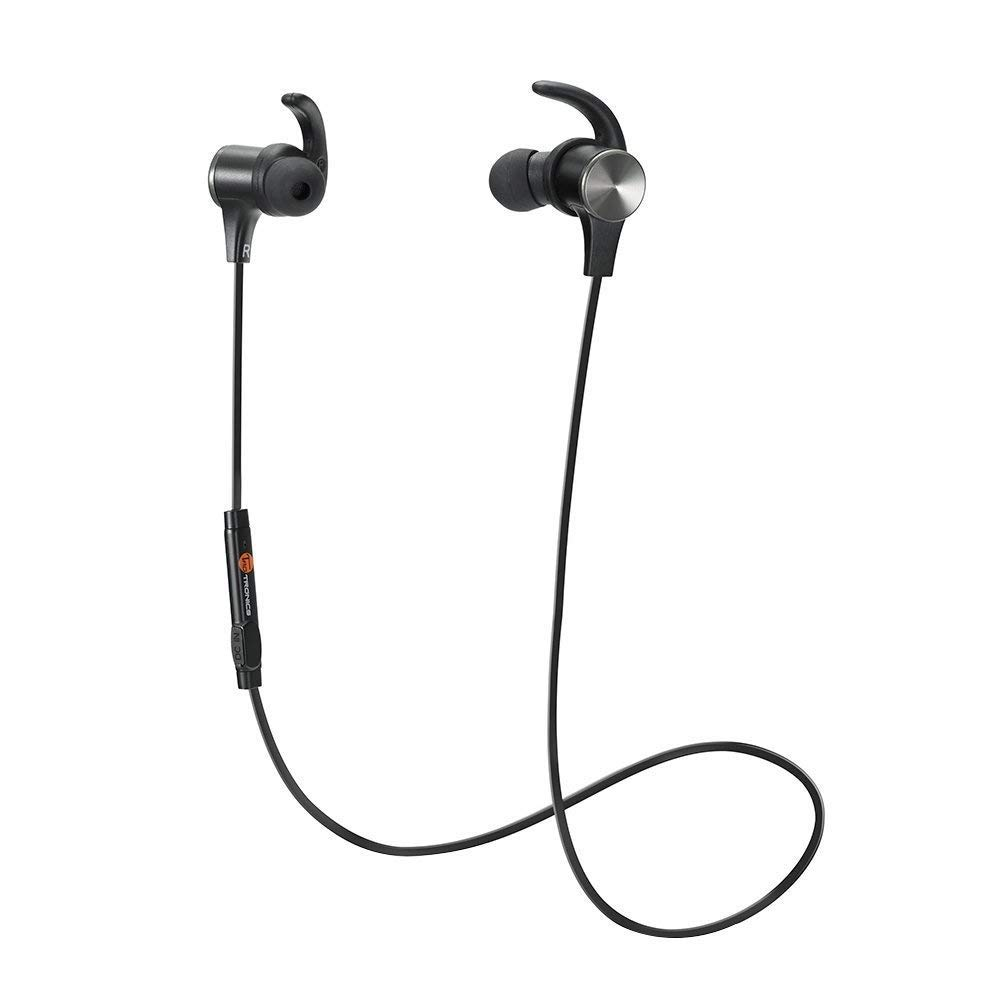Bluetooth Headphones TaoTronics Wireless 4.2 Magnetic Earbuds Snug Fit for Sports Built in Mic TT-BH07 (IPX6 Waterproof aptX Stereo 6-8 Hours Playtime)