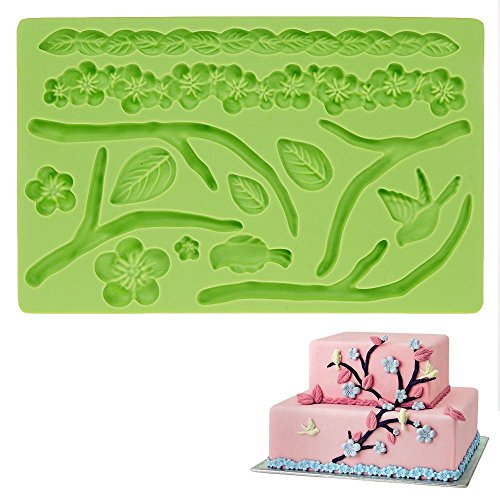 "CHRISTMAS GIFT 7.8"" x 5"" x 0.4"" Food Grade Silicone Fondant Molds 