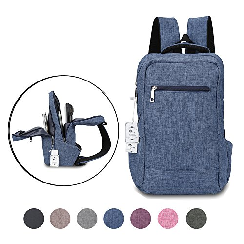 lo 15 15.6 Inch College Backpacks Lightweight Travel Daypack - Blue ()