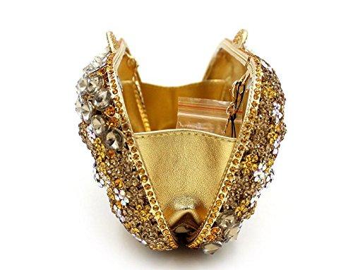 WYB Luxus-Kristall-Diamant-Abendtasche / Frau Clutch / gehobenen bohren voll / hohl Braut Tasche Kette