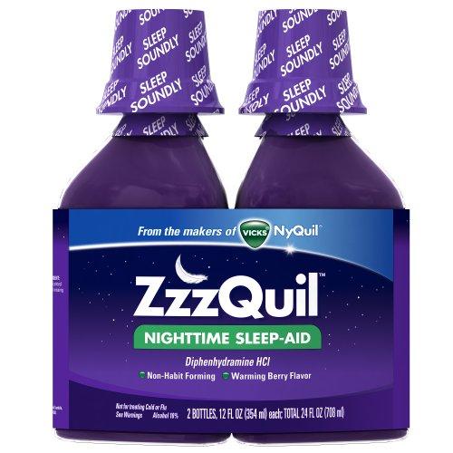 ZzzQuil de nuit Sleep-Aid liquide réchauffement Berry Flavor Twin Pack 24 Fl. Oz