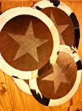 Cowhide Star Placemats--Set of 4