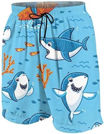 キッズ ビーチパンツ かわいい サメ柄 珊瑚礁 サーフパンツ 海パン 水着 海水パンツ ショートパンツ サーフトランクス スポーツパンツ ジュニア 半ズボン ファッション 人気 おしゃれ 子供 青少年 ボーイズ 水陸両用