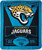 NFL Jacksonville Jaguars Marque Printed Fleece Throw, 50-inch by 60-inch