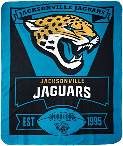 NFL Jacksonville Jaguars Marque Printed Fleece Throw, 50