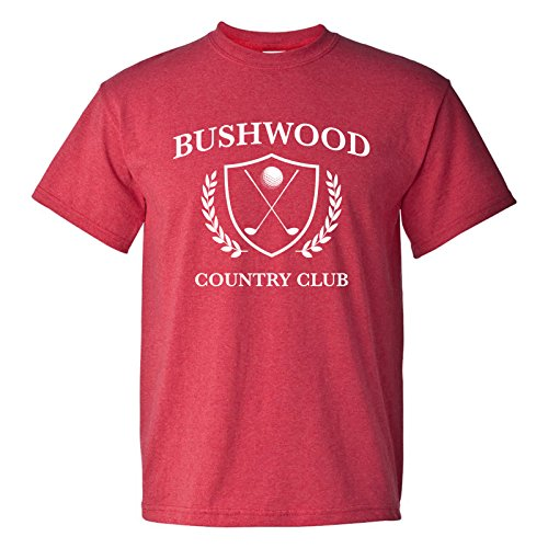 UGP Campus Apparel Bushwood Country Club - Funny Golf Golfing T Shirt - Large - Heather Red