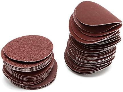 TOOGOO 100 Pack Sanding Grinding Abrasive Pad 240 Grit Discs 2in 50mm