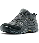 ROCKROOSTER Newland Hiking Boot for Men, Comfortable Shock Absorption Boots, Waterproof Non-Slip ...