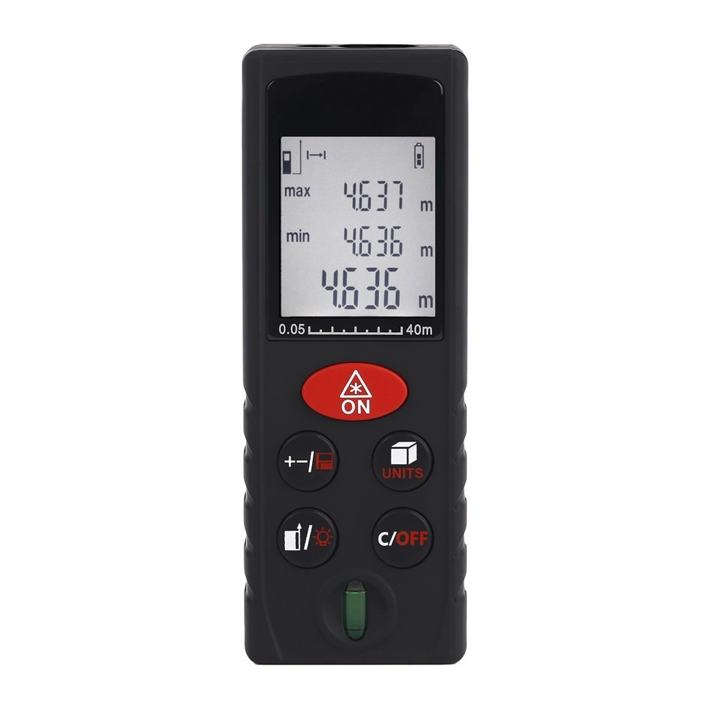 YKS Advanced Laser Measure 131 Ft Digital Laser Distance Meter with Mute and Pythagorean Mode Measure Distance,Area and Volume (Black)