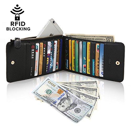 S ZONE RFID Blocking Genuine Leather Multi Card Organizer
