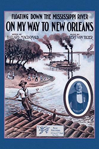 (ArtParisienne Floating Down The Mississippi River On My Way to New Orleans Dunk 12x18-inch Paper Giclée Print)