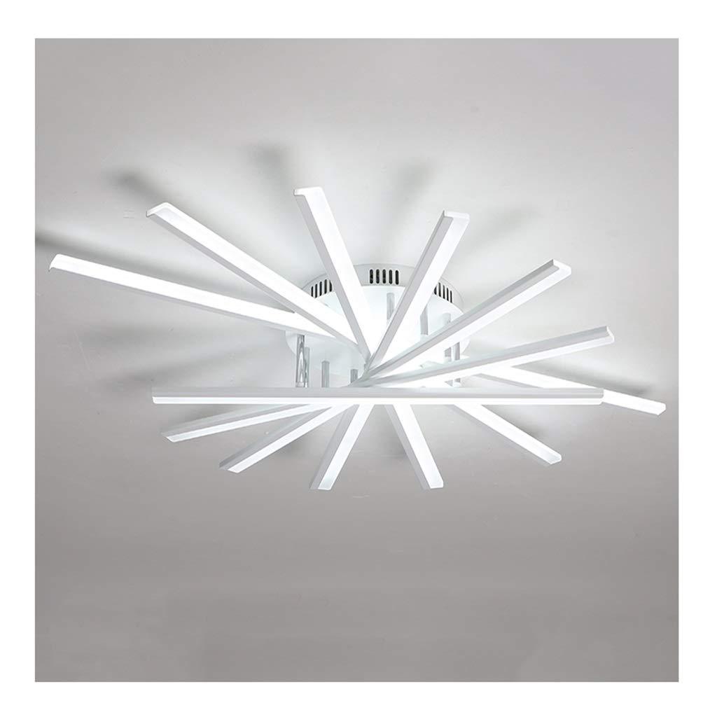天井照明 シーリングライト、モダンでシンプルなクリエイティブシーリングランプ、錬鉄製のアクリル調光対応、リビングルームの装飾寝室ダイニングルーム シーリングライト (Color : White light, Size : 7 heads) 7 heads White light B07T5Z2JZG