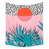 Society6 Whoa - Palm Sunrise Southwest California Palm Beach Sun City Los Angeles Retro Palm Springs Resort Wall Tapestry Large: 88'' x 104''