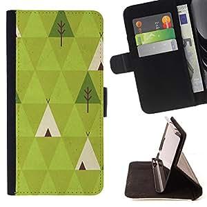 - Forest Poly Art Nature Indian - Estilo PU billetera de cuero del soporte del tir???¡¯???3n [solapa de cierre] Cubierta- For Samsung Galaxy S5 Mini, SM-G800 ( Devil Case )