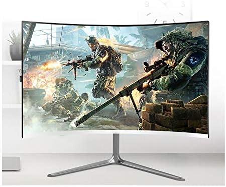 Monitor de PC, PC Monitor de pantalla de 24 pulgadas de grande superficie curva inteligente de 27 pulgadas anti Espejo 16: 9 de 24 pulgadas de grande superficie curva inteligente de 24