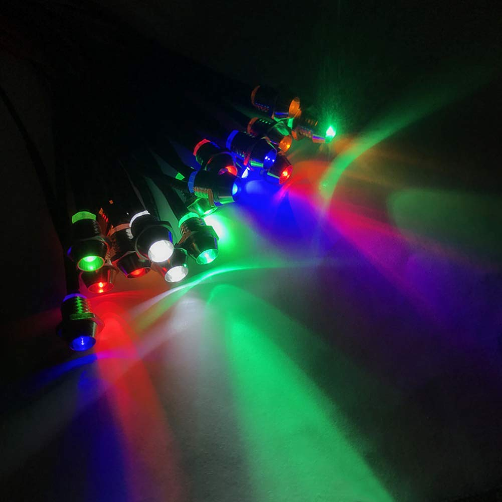 Tricolor Amotor 10 pcs//Lot LED Indicator Light Lamp Pilot Dash Directional Car Truck Boat Blue red Green Yellow White 4350384932