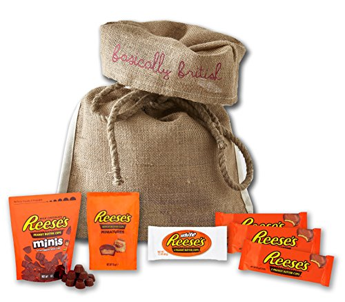 Reeses Peanut Butter Cups by The Yummy Palette   Reeses peanut butter cups miniatures Reeses gift set in Basically British burlap bag