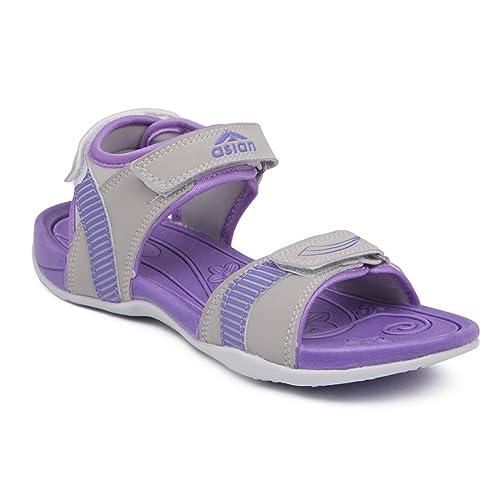 801d502c5bc ASIAN Affair-02 Grey Purple Sports Sandals