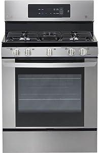 LG LRG3061ST LRG3061ST 5.4 Cu. Ft. Capacity 5 Burner Gas Range
