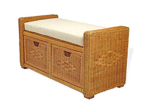 SunBear Furniture Handmade Rectangular Chest Ottoman Bruno 35