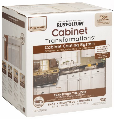 Rust-Oleum 263232 Cabinet Transformations, Small Kit, Pure White - No Rust White Metal Paint
