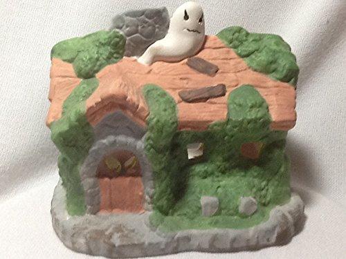 Earthenware Haunted House, Tea Light Holder]()