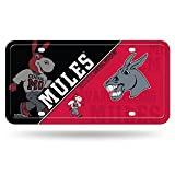 NCAA Central Missouri Mules Metal License Plate Tag