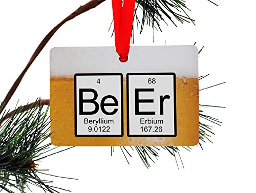 Beer Periodic Table of Elements Christmas Tree - Beer Periodic Table