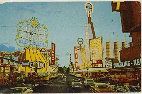 Golden Nugget Casino (by day) on Fremont Street - Las Vegas Nevada (Vintage Chrome Street Scene Postcard)