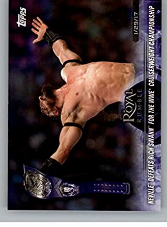 Amazon.com: 2018 Topps Road to WrestleMania #52 Neville Defeats Rich Swann NM-MT: Collectibles & Fine Art