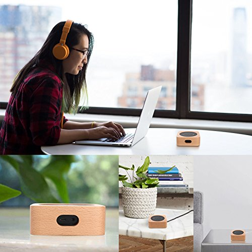CamRom Natural Solid Wood Stand For Amazon Echo Dot【2nd Generation】, Solid Wood Speaker Holder Docking Station for Alexa, Protective Case Made from Beech Wood, Saving Space on Nightstand or Tables by CamRom (Image #3)