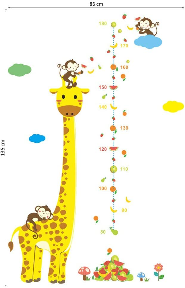 REUSABLE Ecofriendly No Toxins No PVCs Decals Robot Growth Chart Boys Girls Nursery Decal GCWD2 Kids Growth Chart
