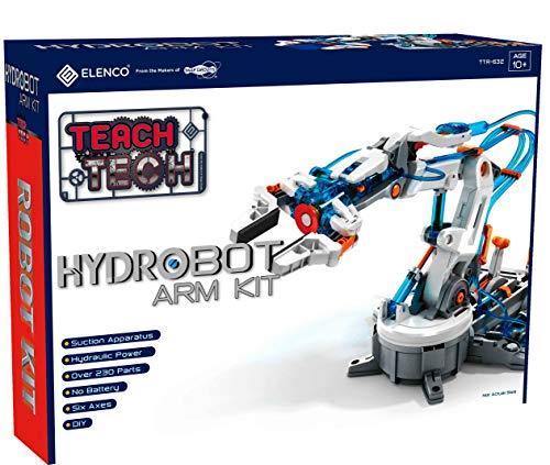 "51CY2LtYoEL - Elenco Teach Tech ""Mech-5"", Programmable Mechanical Robot Coding Kit, STEM Building Toy for Kids 10+"