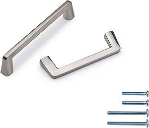 AHOSAR 25 Pack Solid 3-3/4 Inch Zinc Alloy Handles Brushed Satin Nickel Cabinet Pulls Drawer Pulls Furniture Hardware for Bedroom,Bathroom Cupboard Door,Bedroom Dresser Drawer