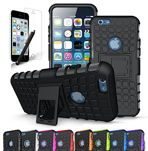 iPhone 6S Case / iPhone 6 Case, CINEYO heavy Duty Rugged Dual Layer Case with kickstand by CINEYO