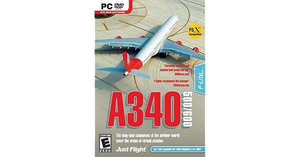 Amazon com: A340-500/600 Expansion for MS Flight Simulator X/2004
