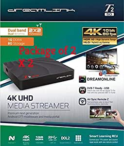 {Package of 2}  2019 Dreamlink T2 5G Hybdrid Quadcore Android 7 T2 5GDual Band 5G Built-in WiFi (Pack of 2)