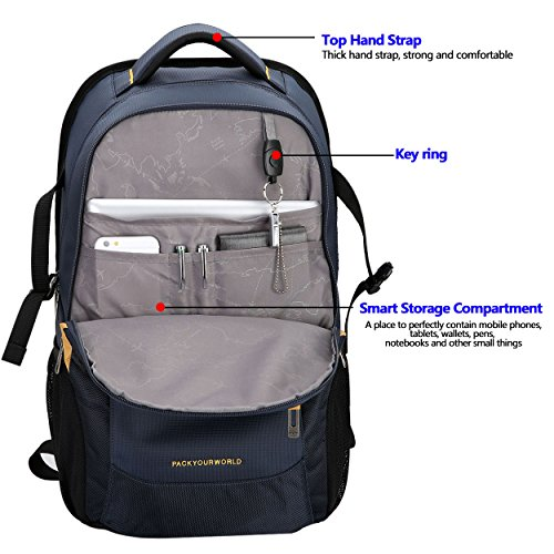 Blue Computer OIWAS Inch Backpack theft School Resistant Backpack Laptop Fits Anti Travel Water Blue Business Under Bags 14 5UqUCwT