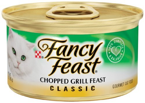 Fancy Feast Classic Chopped Grill Canned Cat Food 3 oz, case