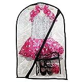 Dance Costume Bag-Children's Garment Bag(Clear + Mini Bag)