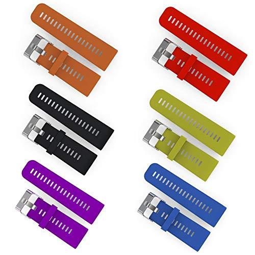 Prinbong Weiches Silikon-Armband-Schnellverschluss-Armband-Uhrenarmband f/ür Garmin Vivoactive HR-Uhrenarmband-Ersatz