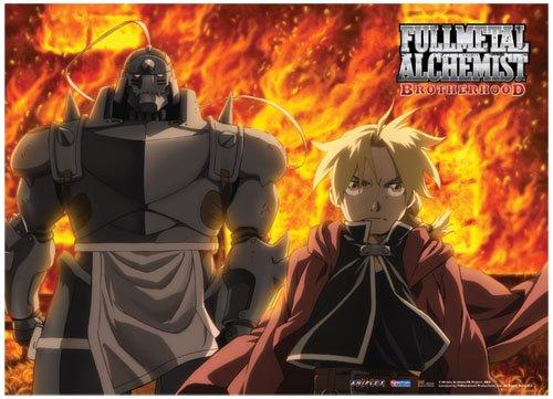 Great Eastern Entertainment FMA Brotherhood Fire Wall Scroll, 33 by - Alchemist Poster